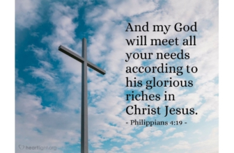 Philippians 4:19 — Verse of the Day for 04/30/2019